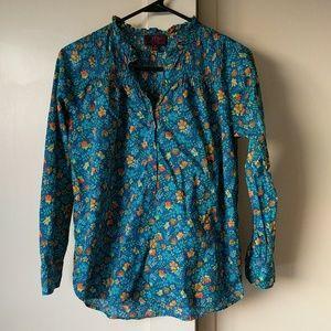 JCrew Liberty fabric popover shirt